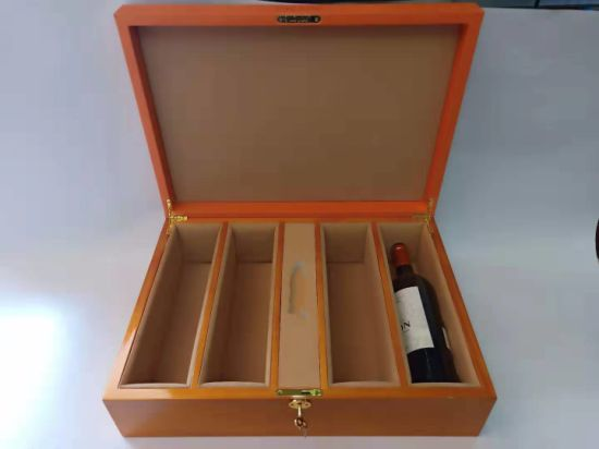 High Quality Lock Closure Gift Packaging Leather Wine Box