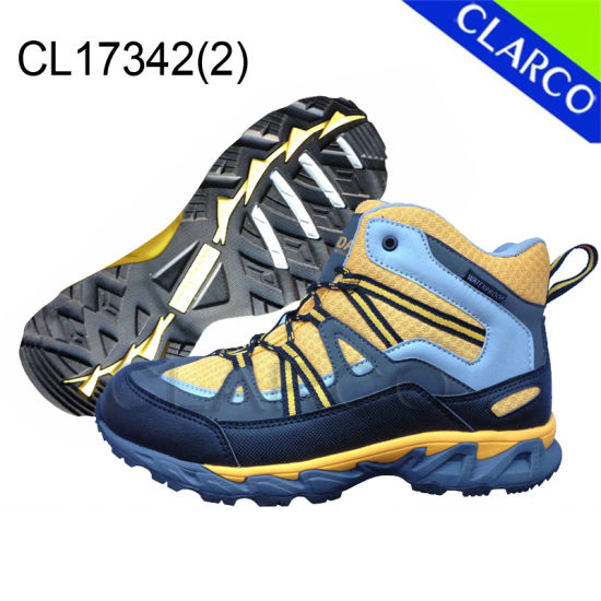 Synthetic Women Sports Outdoor Hiking Shoes with Rubber Sole pictures & photos