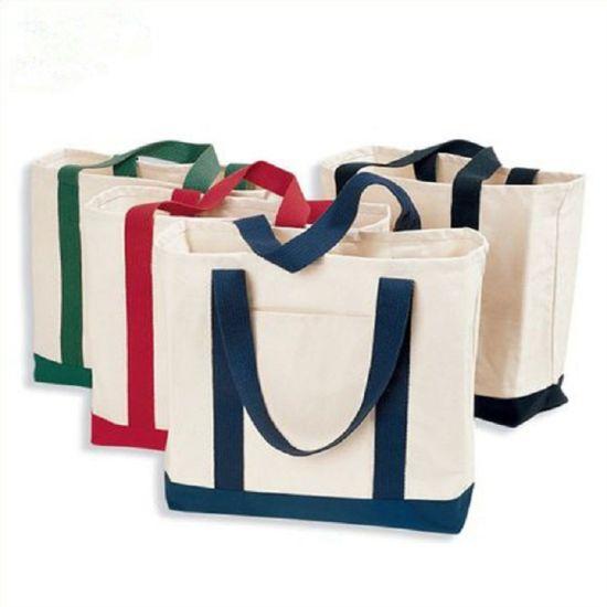 New Simple Plain Cotton Reusable Handbags Shopping Tote Bag