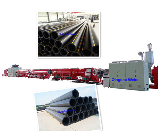 PE HDPE Pipe Extrusion Machine Line for Producing Water Supply and Gas Pipe