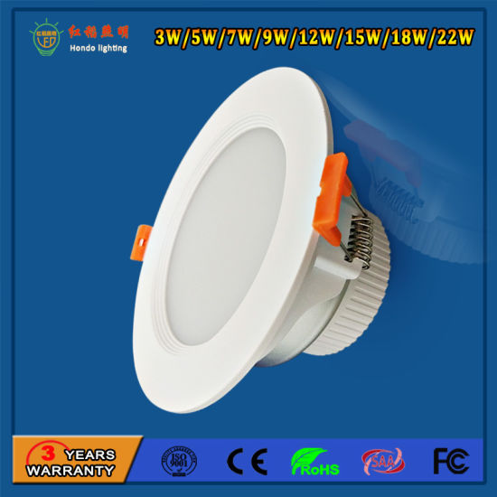 Hot Sale 9W LED Down Light with High Luminous Output and Low Light Decay
