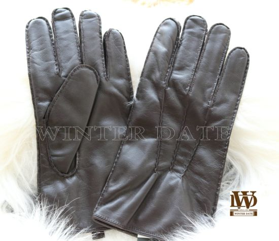 Em-006h, Ethiopia/Sheep/Genuine Leather/Nappa Fashion Warm Gloves for Ladies/Women