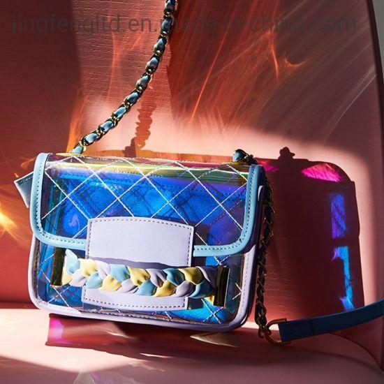 Women Hologram Transparent Shoulder Bag Clear Laser Holographic Purse Handbag