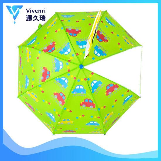 Fashion Children Dome Rain Umbrella, Windproof Rain Green Umbrella, Cartoon  Poe Kid Umbrella