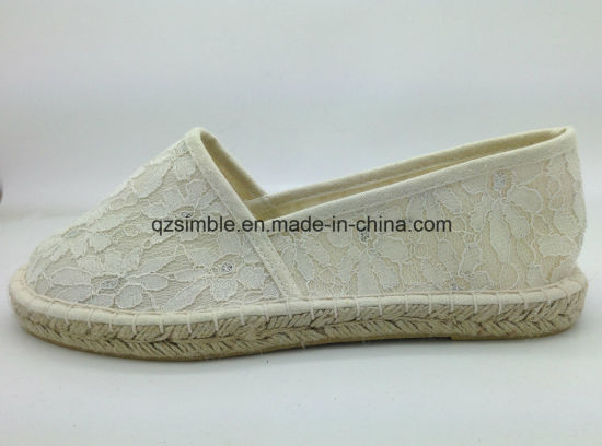 China Cloth Fabric Slip on Women Casual Espadrille - China Shoes ... 1dc48f34cbe