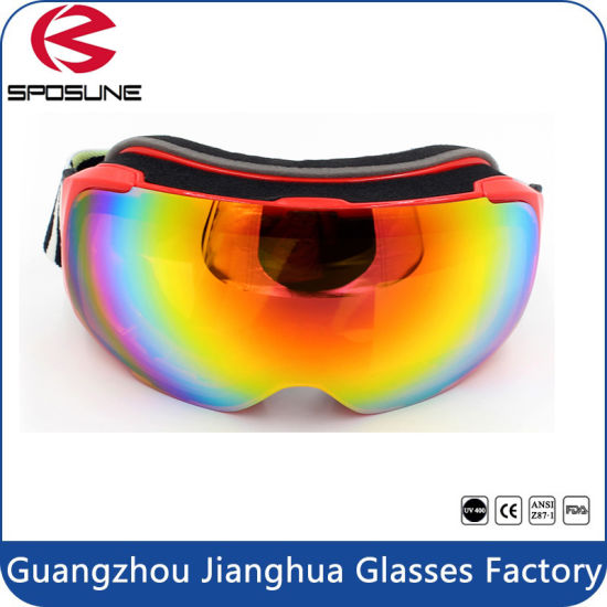 ab6e1f3fe268 Customized Strap Winter Anti Fog Snow Sports Goggles Spherical Dual Lens  Unisex pictures   photos