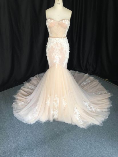 High Quality Custom Make Lace Mermaid Evening Prom Women Dress Bridal Wedding Gowns 3165
