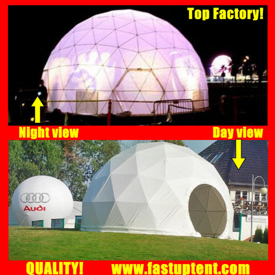 Clear Transparent White PVC Outdoor Geodesic Dome Tent Fastup