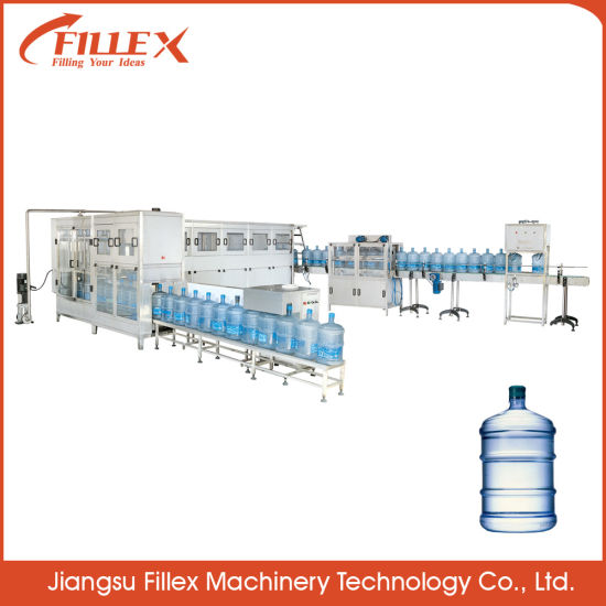 Water Filling Line Full Automatic 3-5 Gallon Water Bottle Filling Packaging Machine