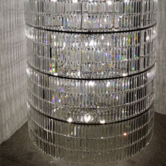 French Modern Lobby Large Cylindrical Luxury Clear Crystal Chandelier pictures & photos