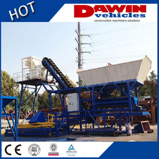 Mini Mobile Concrete Mixing Plant Used for Construction Yard