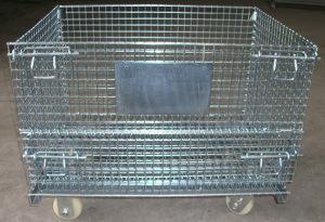 Galvanized Steel Folding Warehouse Storage Cage