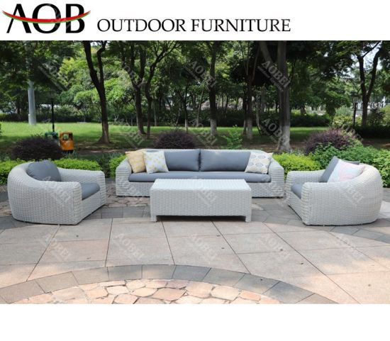 Aobei Modern Outdoor Patio Garden Hotel Home Villa Resort Rattan Wicker Sofa Furniture