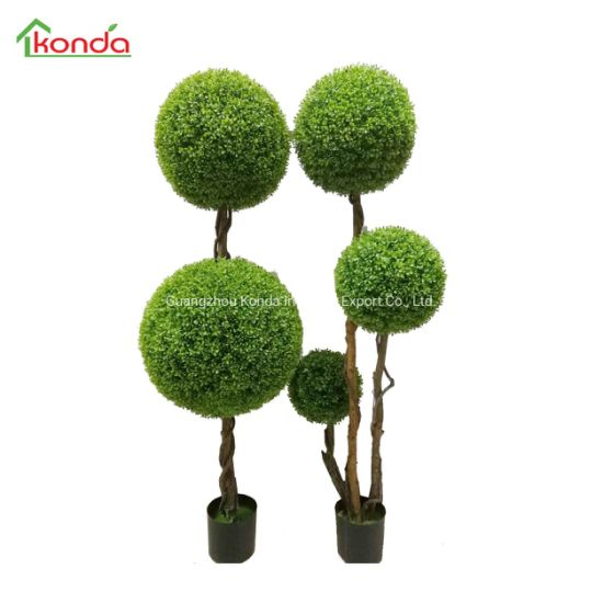 Home Decoration Artificial Flowers and Plants Two Grass Ball Tree