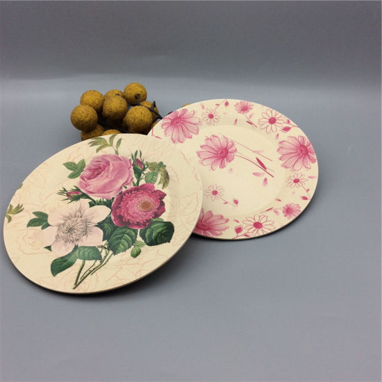 Compostable Printing Melamine Dinner Plates Bamboo Fiber Dish : dinner plate printing - Pezcame.Com