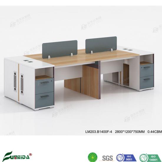 Wooden Office Furniture Clerk Table Staff Computer Desk Partition Office Workstation
