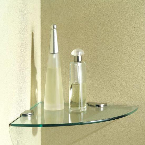 High Quality Corner Glass Shelf Tempered Glass Clear Float Glass Wall Glass Shelf