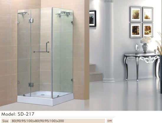 China Quadrat Tempered Transperant Glass Sliding Bathroom Shower Inspiration Bathroom Stall Model