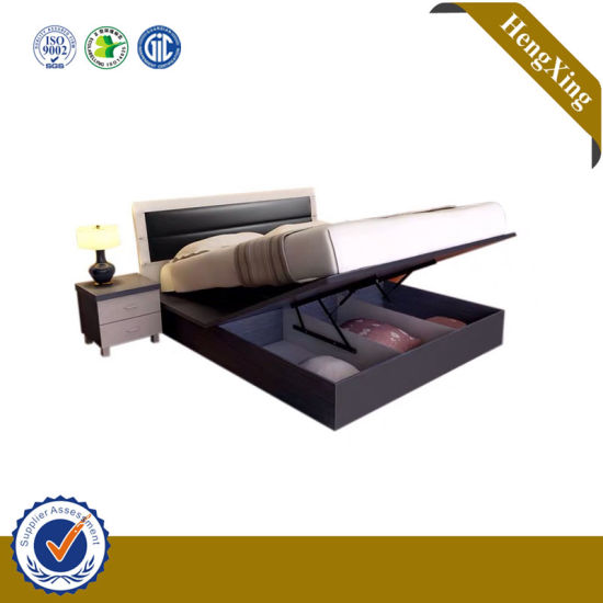 China Hot Sell Modern Design Home Bedroom Furniture Children Queen Bed With Night Stand China Kids Bed Bedroom Set