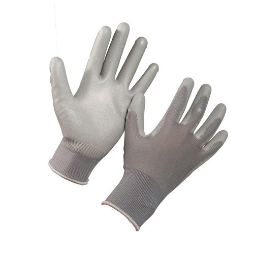 Coated with PU Glove, Hand Protection, Working Gloves, Safety Glove