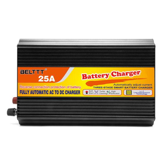 BELTTT Digital Current Display Three-Stage Smart Car Battery Charger 24V 25A