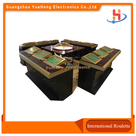 Popular 6/8/12 Players Electronic Casino Golden Roulette Taiwan Game Software Machine for Sale