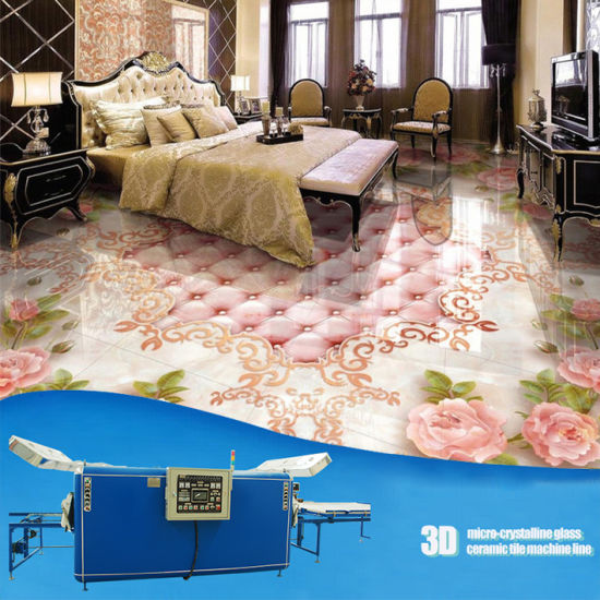 China New Technology 3d Floor Art Micro Crystal Tile Making