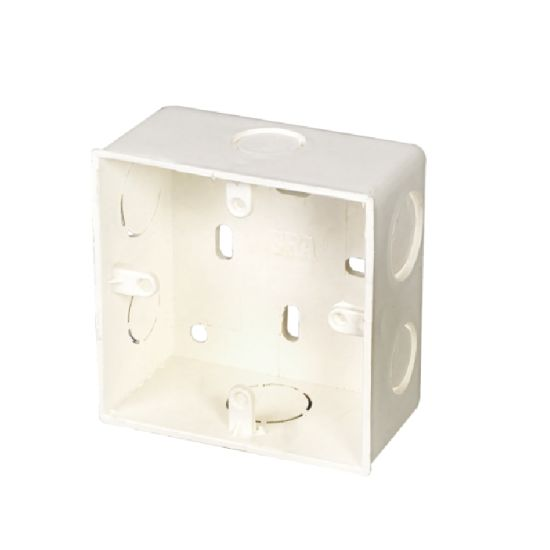 UPVC DIN Standard Electrical Fitting Outlet Box