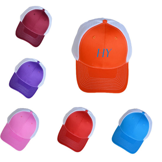 BSCI Promotional 6 Panels Mesh Style Colorful Sport Baseball Cap