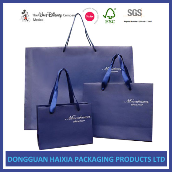 Luxury Retail Carrier Bags for Shopping Shoes Garments Cosmetic Gifts Packaging/ Paper Handle Bags pictures & photos