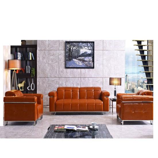 Office Furniture Leather Cushion Sofa Set