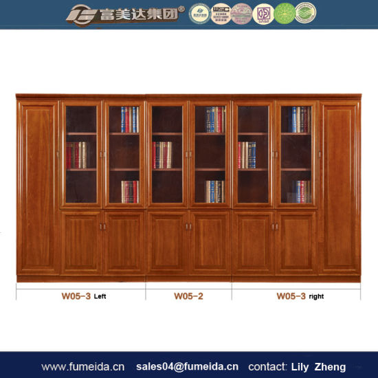 Chinese Furniture Wood Panel Office Filing Cabinet for Storage