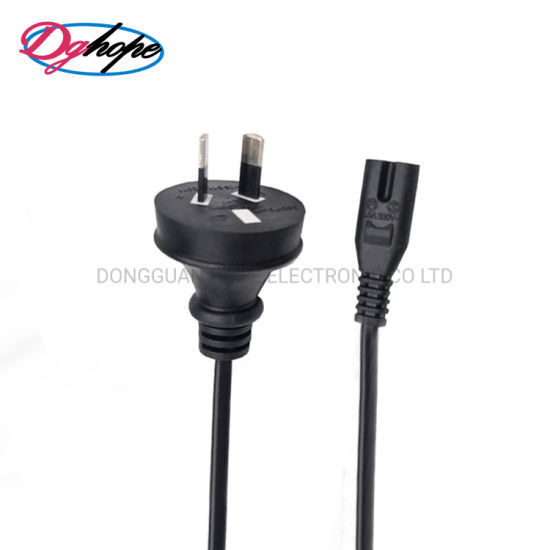 2 Pron Power Cord 250V 10A Australia Figure 8 Power Cable with SAA Certification
