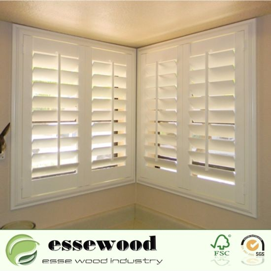 decorative pvc foam plantation corner window louvered shutter home with competitive price