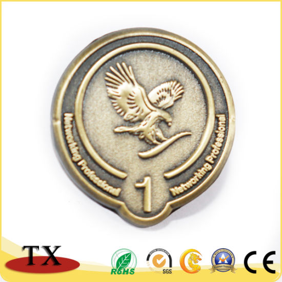 Customized Copper Plating Metal Badge with Lapel Pin (TXG237)