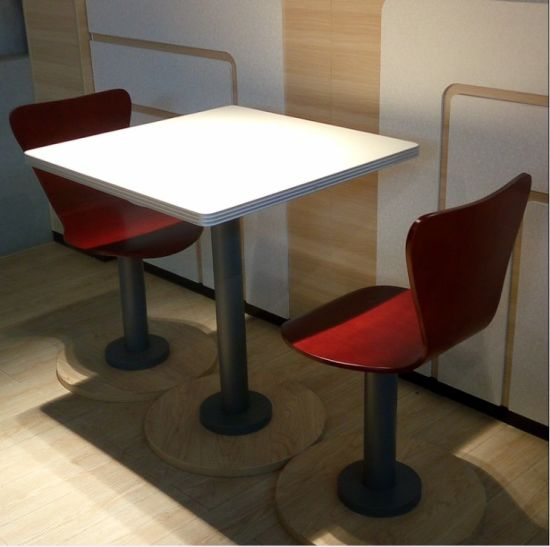 Kfc Style Modern Fast Food Restaurant Table And Chairs