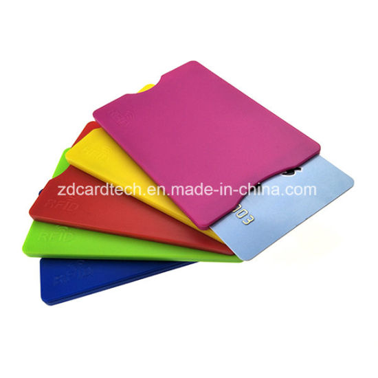 abs plastic rfid blocking card protector holder for credit card - Plastic Credit Card