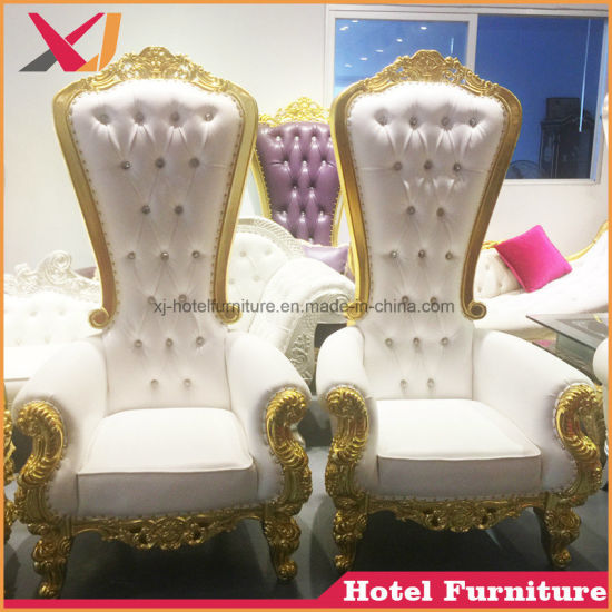 Best Sell High Back Wedding King And Queen Throne Chair For Hotel Restaurant