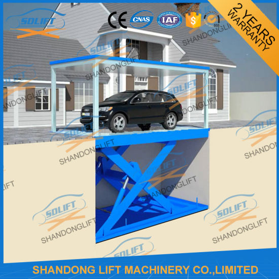 Floor to Floor Vertical Ladder Electric Car Parking Hoist