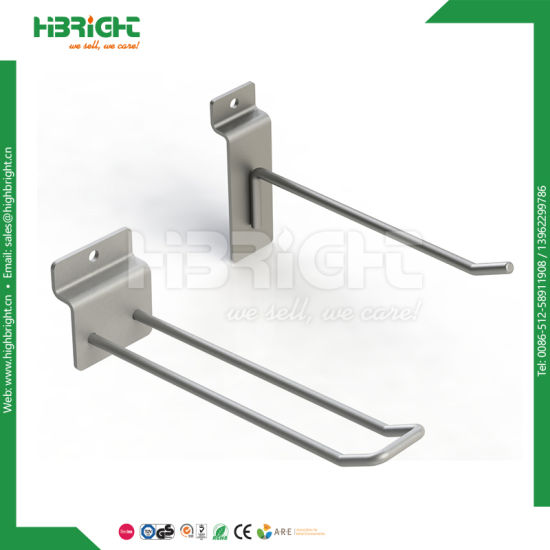 Metal Chrome Slat Wall Clothes Hanging Hook pictures & photos