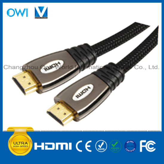 Metal Assembly HDMI 19pin Plug to Plug Cable pictures & photos