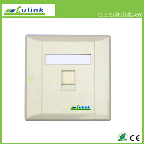 86 Type Network Single Port RJ45 Faceplate with Shutter