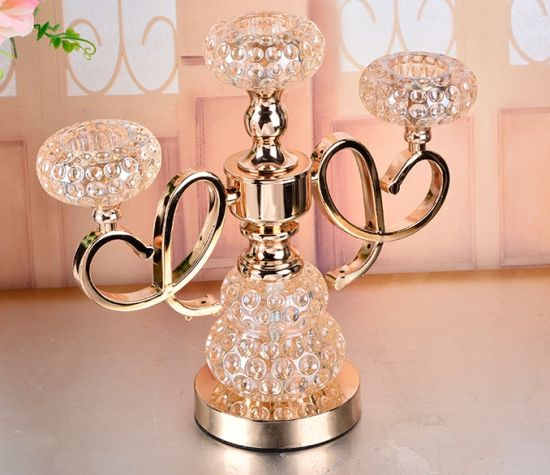 Crystal Ball Wedding Table Candelabra Flower Stand Centerpiece pictures & photos