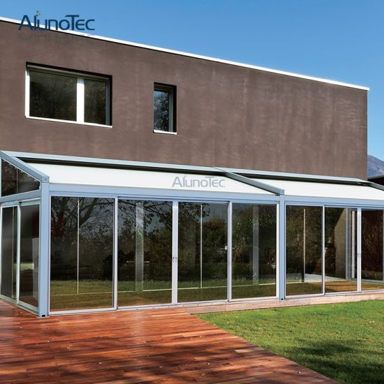 China Aluminium Automatic Awnings / Auto Patio Roofing Systems ...