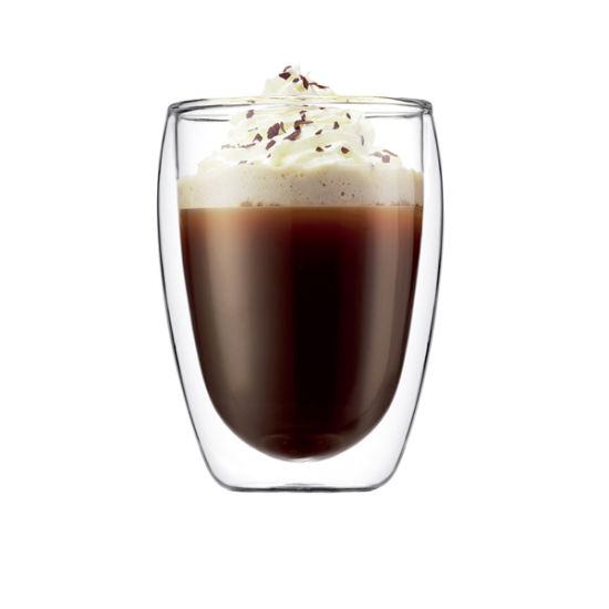 350ml (12oz) Double Wall Glass Tea Cup Coffee Mug