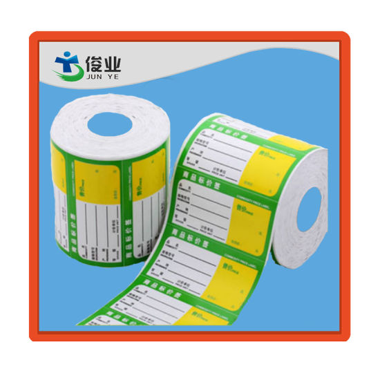 Custom paper adhesive sticker label roll waterproof for price sticker