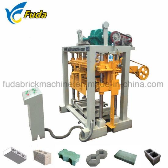 Qt40-2 Manual Sand Concrete Block Machine/Fly Ash Habiterra Block Machine