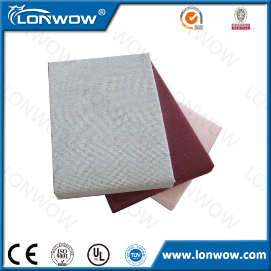 Interior Decorative Materials Fiberglass Wool Acoustic Wall Panel