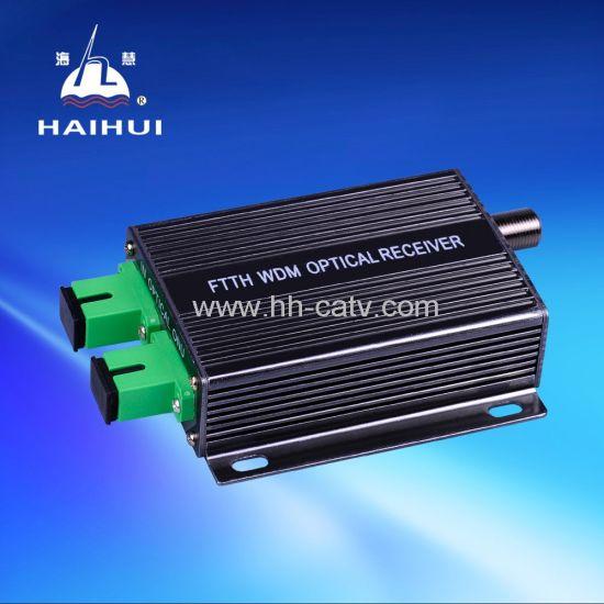 CATV Mini Indoor Optical Receiver Power Adaptor FTTH Wdm