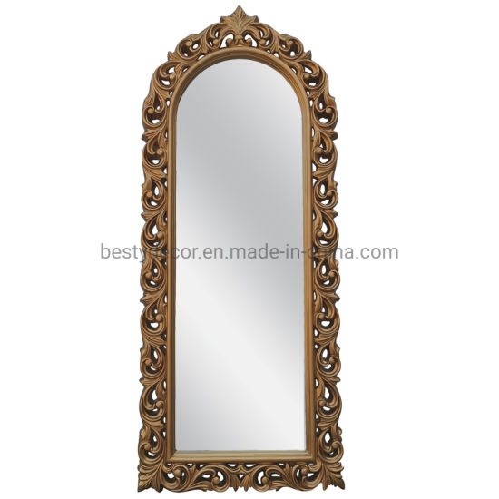 China Tall Slim Leaner Baroque Style, Baroque Style Gold Mirror